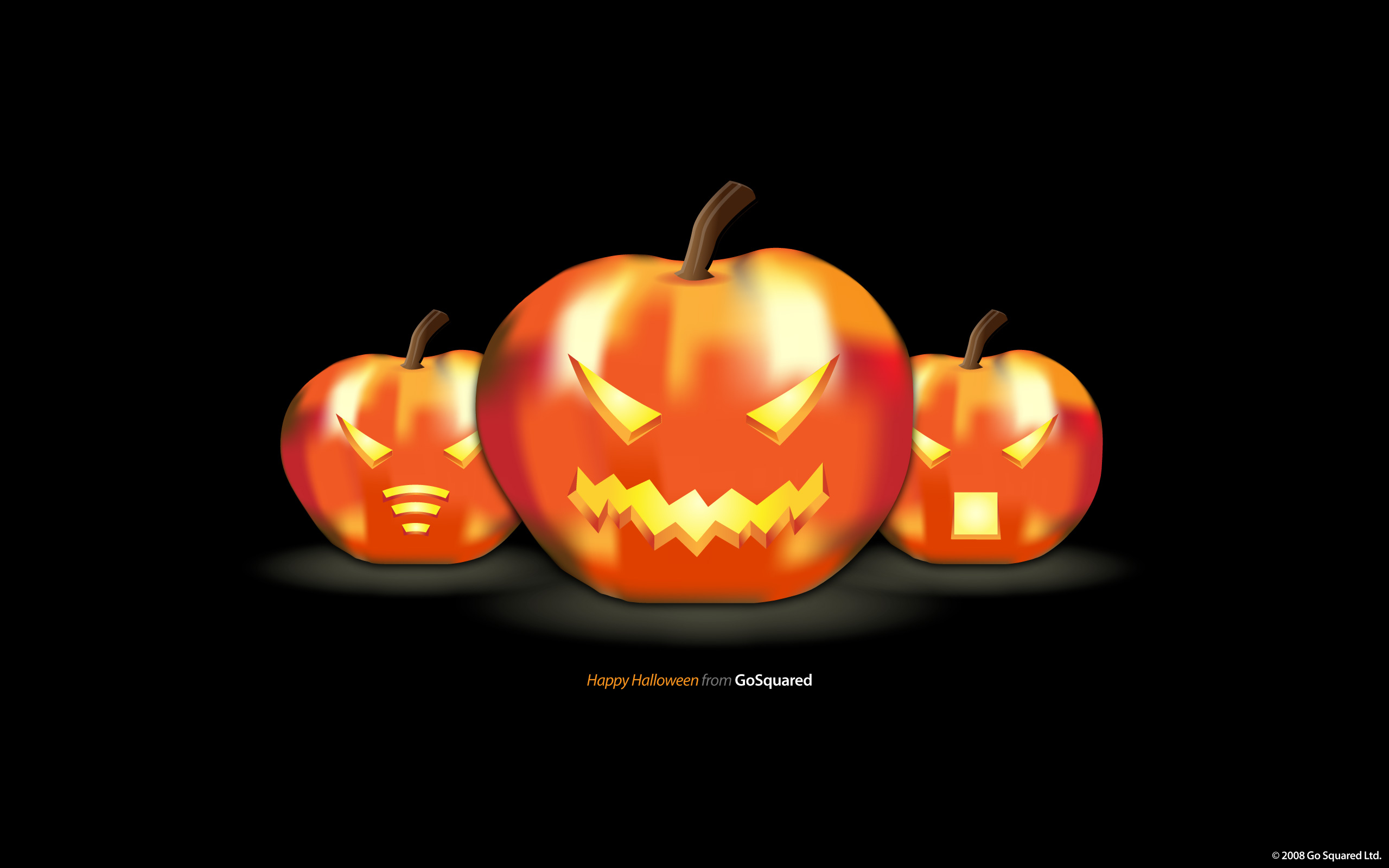 heres a wallpaper to say happy halloween from gosquared - Pictures That Say Happy Halloween